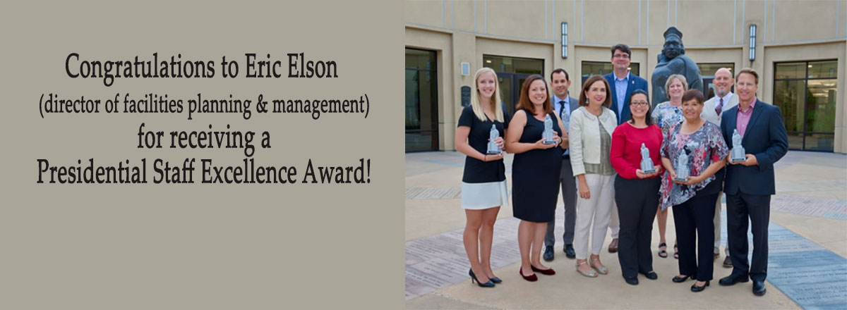 Eric Elson receives a Presidential Staff Excellence Award!